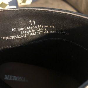Merona Shoes - Black booties with brown heels